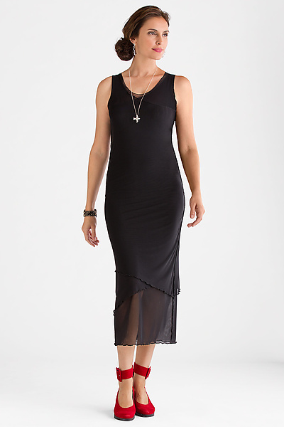 Sleeveless Mesh Dress - Knit Dress - by Cynthia Ashby