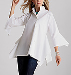 Cotton & Poplin Shirt by Lynn Mizono