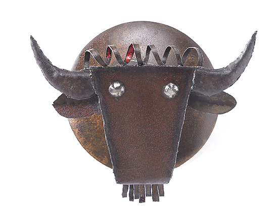 Buffalo Head - Metal Wall Art - by Ben Gatski