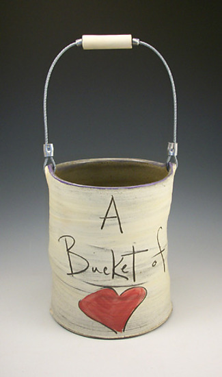 Bucket of Love - Ceramic Vessel - by Eric Hendrick and Noelle Van Hendrick