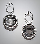 Silver Earrings by Ashley Vick
