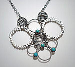 Silver & Stone Necklace by Ashley Vick