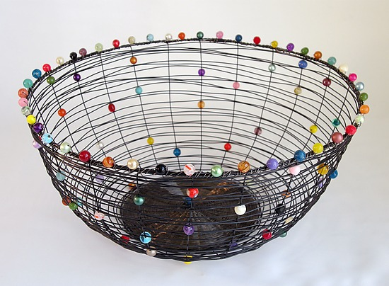 Nest Basket, Annealed Steel - Metal Basket - by Sally Prangley