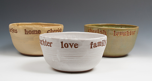 Celebration Bowl - Ceramic Bowl - by Louise Bilodeau