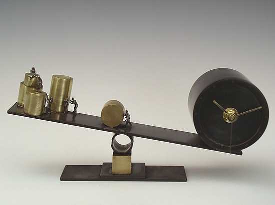 Balancing Time - Metal Clock - by Malcolm Owen and Mary Ann Owen