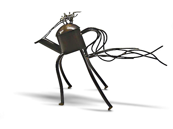 Riding the Wild Teapot - Metal Teapot - by Malcolm Owen and Mary Ann Owen