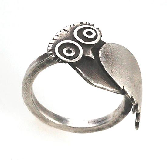 Owl Ring - Silver Ring - by Susan Elnora