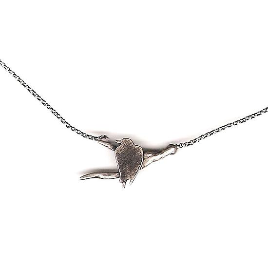 Raven Branch Necklace - Silver Necklace - by Susan Elnora