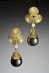 Gold, Stone, & Pearl Earrings by Robin Cust