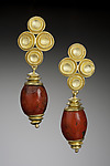Gold & Stone Earrings by Robin Cust