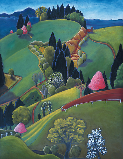 Voluptuous Hills - Giclee Print - by Jane Aukshunas