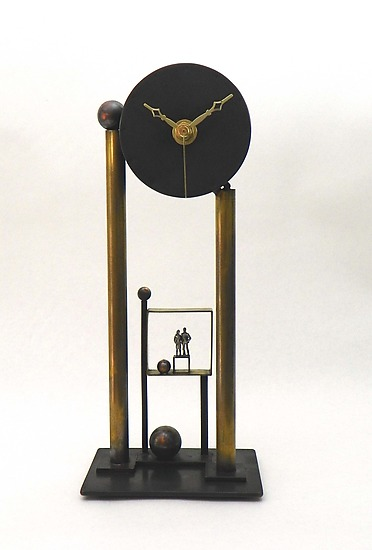 For All Time - Metal Clock - by Malcolm Owen and Mary Ann Owen