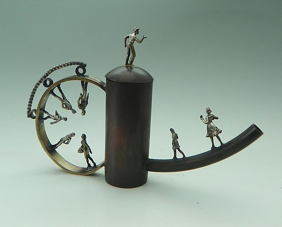 Strange Brew - Metal Teapot - by Malcolm Owen and Mary Ann Owen