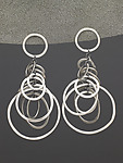 Silver Earrings by Heather Guidero