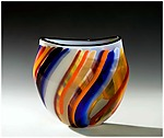 Art Glass Vase by Bengt Hokanson