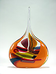 Art Glass Vessel by Bengt Hokanson