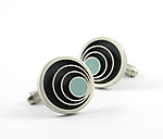 Silver & Resin Cuff Links by Matthew Smith