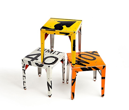 Pop! Transit Table - Metal Side Table - by Boris Bally