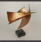 Metal & Pearl Sculpture by Cheryl Williams