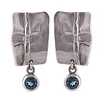 Silver & Stone Earrings by Diana Widman