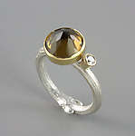 Gold, Silver, & Stone Ring by Sarah Hood