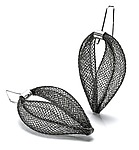 Nylon & Silver Earrings by Shana Kroiz
