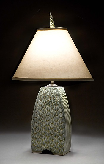 Small Arts and Crafts Lamp - Ceramic Table Lamp - by Jim and Shirl Parmentier
