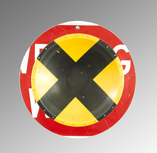 X-ing D.P.W. Platter - Metal Wall Art - by Boris Bally