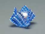 Art Glass Candleholder by Ed Edwards