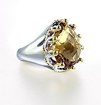 Silver & Stone Ring by Ellen Himic