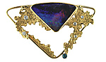 Gold & Stone Brooch by Karina Mattei