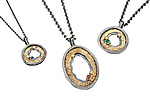 Gold, Silver, & Stone Necklace by Jenny Reeves