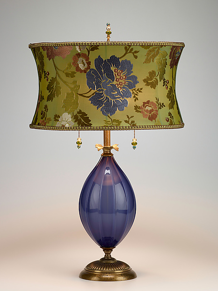 Iris - Mixed-Media Table Lamp - by Caryn Kinzig and Susan Kinzig