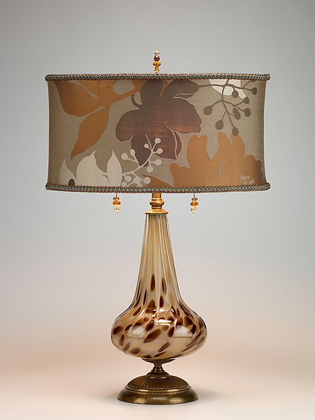 Pearl - Mixed-Media Table Lamp - by Caryn Kinzig and Susan Kinzig