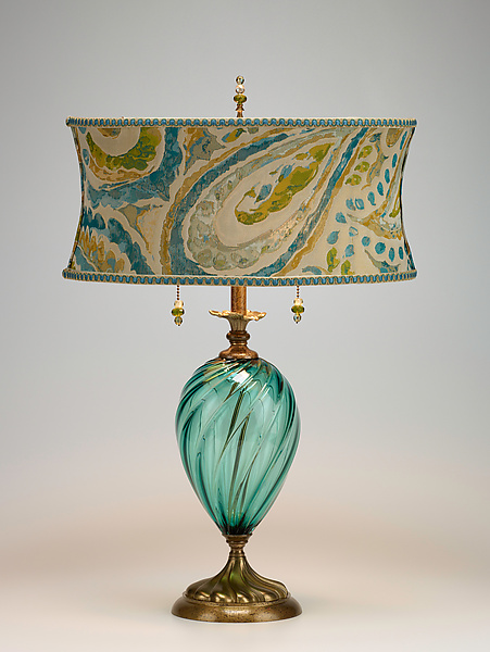 Lucia - Mixed-Media Table Lamp - by Caryn Kinzig and Susan Kinzig