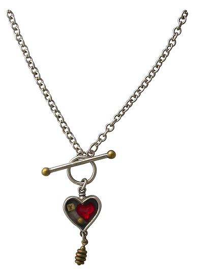 Heartbox Toggle Necklace - Silver Necklace - by Thomas Mann