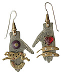 Metal Earrings by Thomas Mann