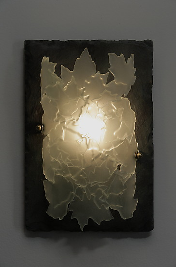 Leaflight - Art Glass Sconce - by Rick Melby