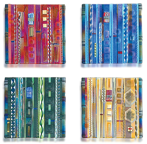 Wall Panel Color Series Set - Art Glass Wall Art - by Mark Ditzler