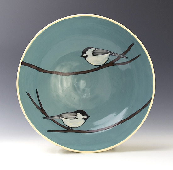 Chickadee Bowl - Ceramic Bowl - by Lacey Goodrich