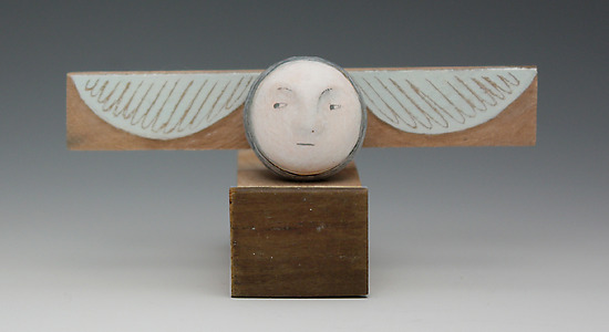 Tiny Angel - Wood Sculpture - by Christine Kaiser