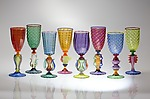 Art Glass Goblet by Robert Dane