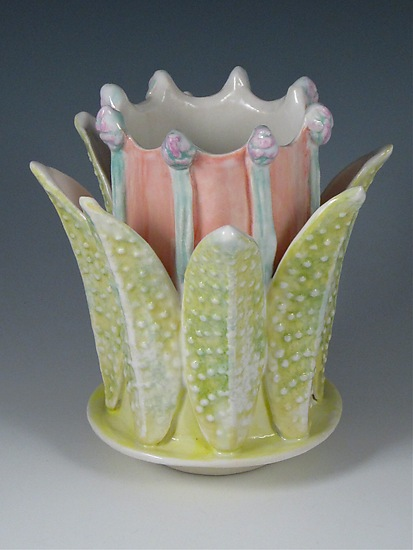 Flower Crown Porcelain Vase - Ceramic Vase - by Carol Barclay
