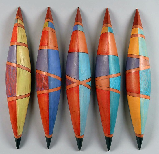 Skiffs Nine - Ceramic Wall Art - by Liza Halvorsen