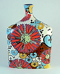 Ceramic Flask by Regina Farrell