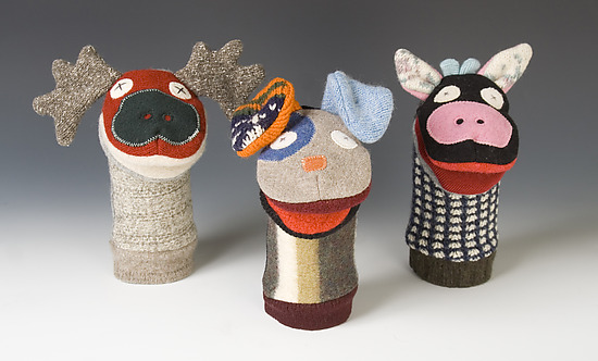 Hand Puppets - Wool Hand Puppet - SALE - by Josh Title