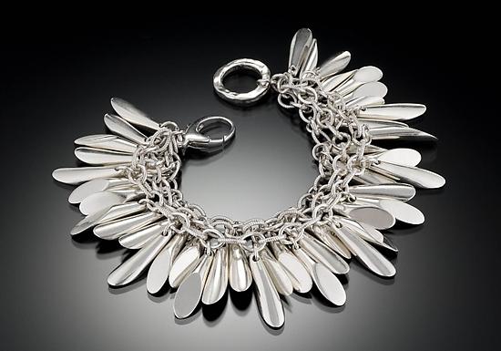Sea of Slivers - Silver Bracelet - by Kennedi Milan