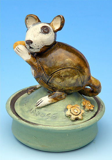 Mouse Jar - Ceramic Box - by Amy Goldstein-Rice
