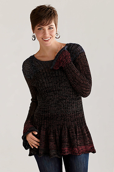 Flirty Sweater - Cotton Sweater - by Sue Peterson