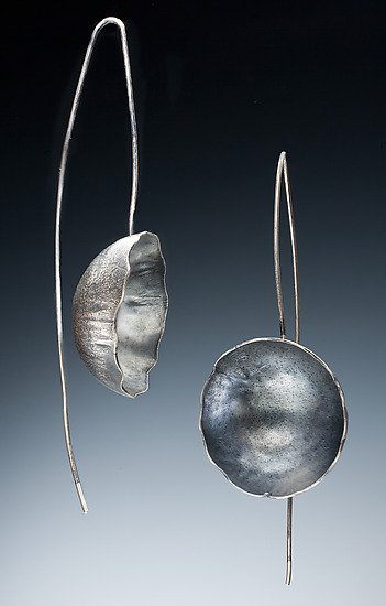 Capri Earrings - Silver Earrings - by Nina Mann